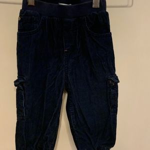 Baby Boden blue lined corduroy pants 12/18 M